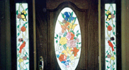 Flower and Bird Stained Glass Windows