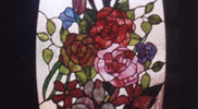 Stained Glass Flower Window