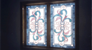 Stained Glass Ribbon Design Window