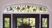 Stained Glass Flower Arch