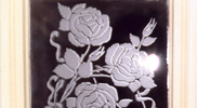 Sandblasted and Etched Glass 06